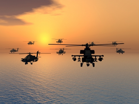 us army: Apache Helicopters