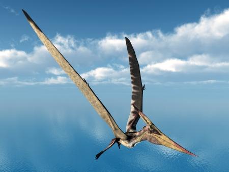 De Pterosaur Pteranodon Stockfoto