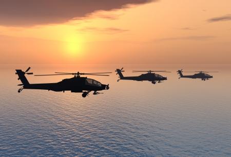Apache Helikopter Stock Photo