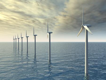 wind farm: Parque e�lico marino