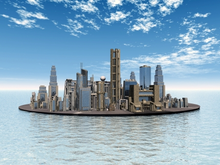 the humanities landscape: City in the Sea