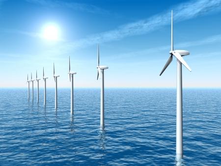 Offshore Wind Farm Archivio Fotografico - 17627334
