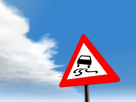 Road slippery when wet or dirty Stock Photo - 17627294