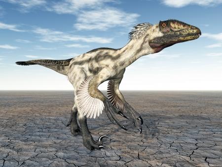 Dinosaur Deinonychus photo