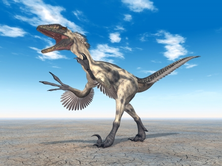 carnivorous animals: Dinosaur Deinonychus Stock Photo