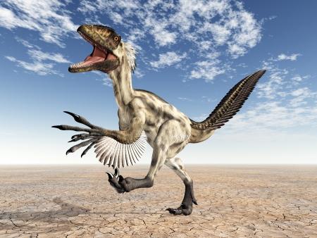 deinonychus: Dinosaur Deinonychus Stock Photo