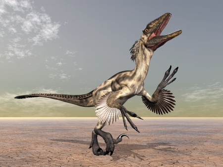 Dinosaurio Deinonychus photo