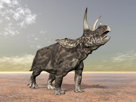 Pentaceratops dinosaurio Foto de archivo - 18077078