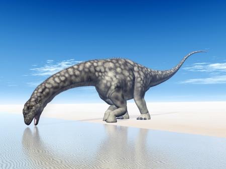 Dinosaur Argentinosaurus Foto de archivo - 18413781