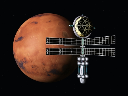 Mars with Space Probe