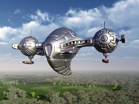Alien Spacecraft in Earth s Atmosphere photo