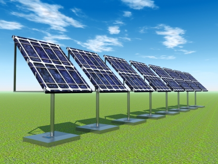 electricity prices: Solar Power Plant Stock Photo
