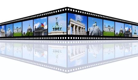 Berlin Impressions on film strip