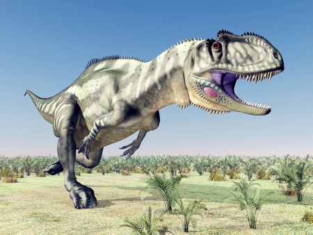 hugely: Dinosaur Yangchuanosaurus Stock Photo