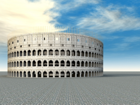 amphitheater: Colosseum in Rome, Italy