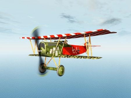 avion de chasse: Avion de chasse allemand de la Premi�re Guerre mondiale