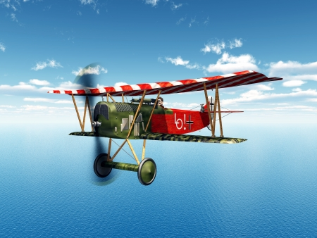 avion de chasse: Avion de chasse allemand de la Premi?re Guerre mondiale Banque d'images