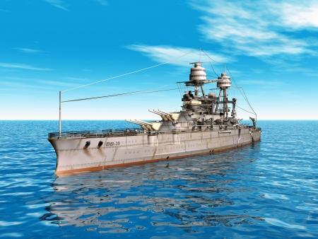 a battleship: American Battleship USS Arizona