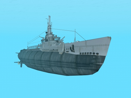 triggerfish: Submarine USS Trigger Stock Photo