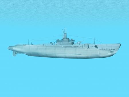 gatillo: Submarino disparo USS Foto de archivo