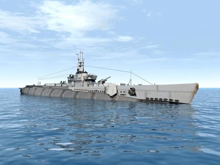 desencadenar: Submarino disparo USS Foto de archivo