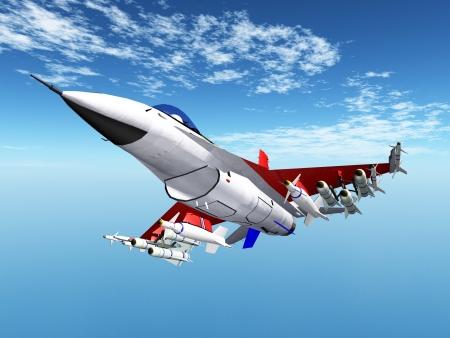 Modern Fighter Aircraft Stock Photo - 21418693