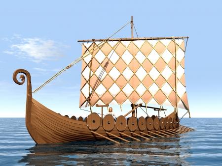 Viking Ship Standard-Bild