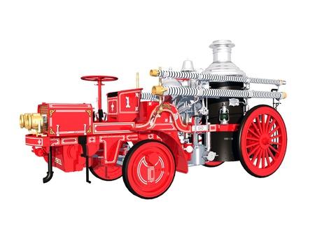 voiture de pompiers: Retro Fire Engine Banque d'images