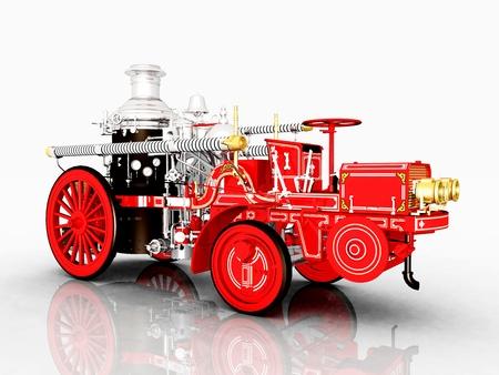 motor ardiendo: Cami�n de bomberos Retro