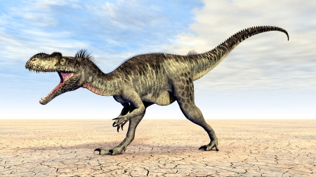 Dinosaur Megalosaurus Stockfoto