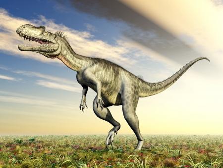 enormously: Dinosaur Megalosaurus Stock Photo