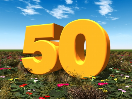 The Number 50 Stock Photo