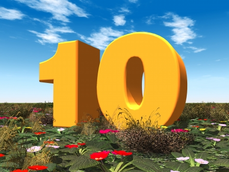 El Número 10 Foto de archivo - 22676815