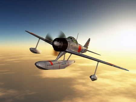 Japanese Fighter Bomber from the Second World War photo