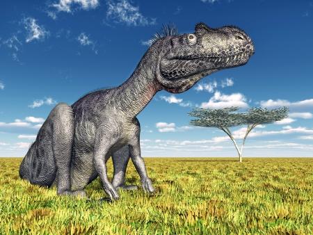 hugely: Dinosaur Megalosaurus Stock Photo
