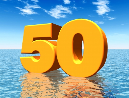 The Number 50 Stockfoto