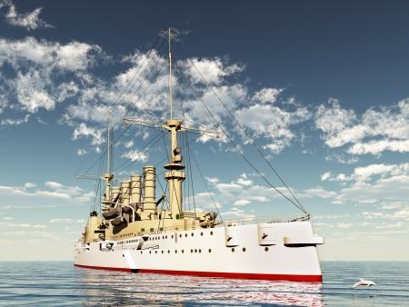 flagship: Armored Cruiser SMS Scharnhorst from the first world war