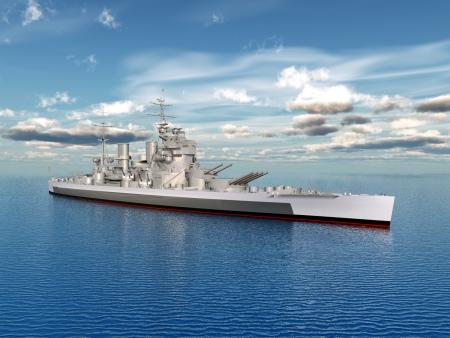第二次世界大戦からの歴史的な軍艦王ジョージ