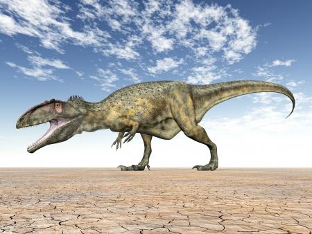 Dinozor giganotosaurus Stock Photo