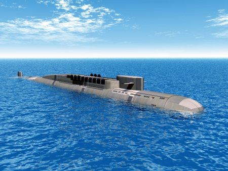 cold war: Russian Nuclear Submarine of the cold war