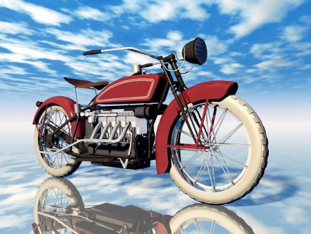 American Motorcycle from the 1920s Stock Photo