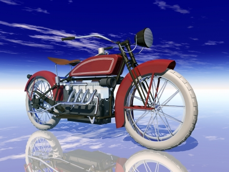 American Motorcycle from the 1920s Stock fotó