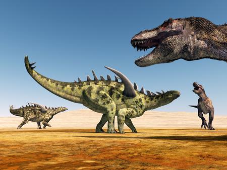 tiranosaurio rex: Gigantspinosaurus y Tyrannosaurus Rex
