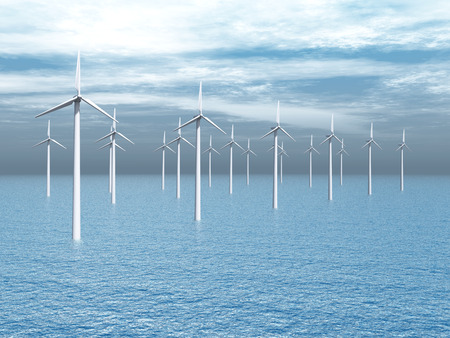 wind power plant: Offshore Wind turbines
