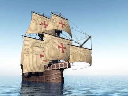 Portuguese Ship of the Fifteenth Century Standard-Bild