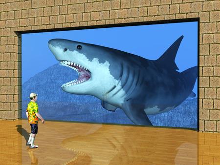 aquarium visit: Boy Visit the Aquarium