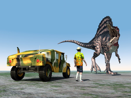 reckless: Reckless Tourist and the Dinosaur Spinosaurus