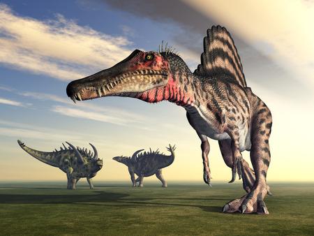 Spinosaurus and Gigantspinosaurus