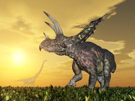 Dinosaur Pentaceratops photo