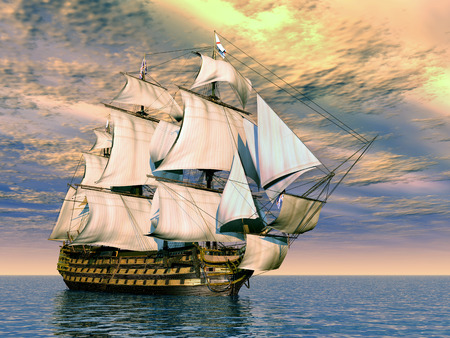 flagship: HMS Victory Stock Photo